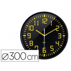 Reloj orium de pared analogico digito grande amarillo fondo negro diametro