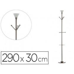 Perchero metalico archivo 2000 con lampara halogena y paraguero 6 colgadore
