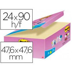 Bloc de notas adhesivas quita y pon postit super sticky amarillo canario 4