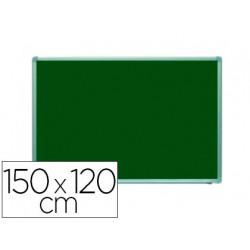 Pizarra verde rocada acero vitrificado magnetico marco aluminio y cantonera