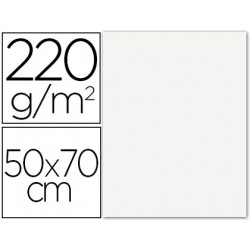 Cartulina lisa/rugosa 2 texturas 50x70 cm 220g/m2 blanco