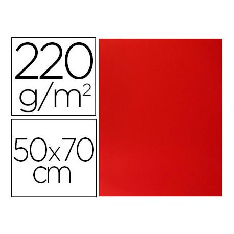 Cartulina lisa/rugosa 2 texturas 50x70 cm 220g/m2 cereza
