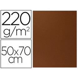 Cartulina lisa/rugosa 2 texturas 50x70 cm 220g/m2 marron chocolate