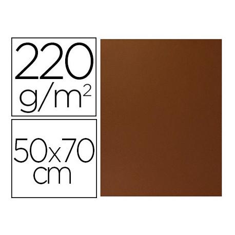 Cartulina lisa/rugosa 2 texturas 50x70 cm 220g/m2 marron chocolate