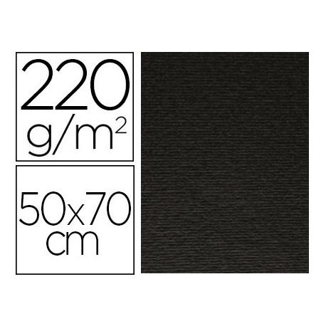 Cartulina lisa/rugosa 2 texturas 50x70 cm 220g/m2 negro