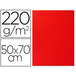 Cartulina lisa/rugosa 2 texturas 50x70 cm 220g/m2 rojo