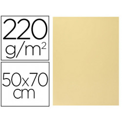 Cartulina lisa/rugosa 2 texturas 50x70 cm 220g/m2 vainilla