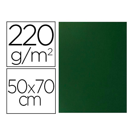 Cartulina lisa/rugosa 2 texturas 50x70 cm 220g/m2 verde pino