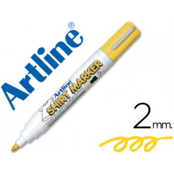 Rotulador artline camiseta ekt2 amarillo punta redonda 2 mm para uso en