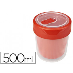 Vaso termico offisys capacidad 05l valvula para microondas 100% hermetico