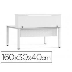 Mostrador de altillo rocada valido para mesas work metal executive 160x30x4