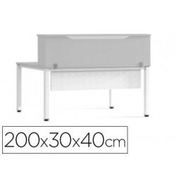 Mostrador de altillo rocada valido para mesas work metal executive 200x30x4