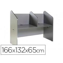Mesa centro de llamadas rocada doble serie welcome 166x132x65 cm acabado ab