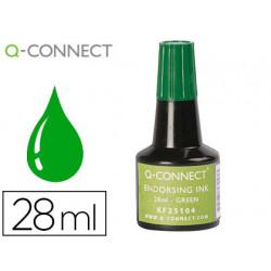 Tinta tampon qconnect verde frasco 28 ml