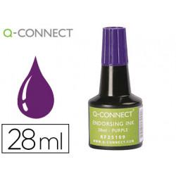 Tinta tampon qconnect violeta frasco 28 ml