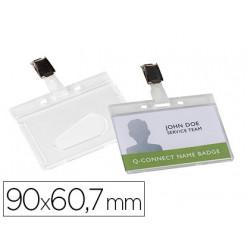 Identificador qconnect rigido plastico acabado brillante con pinza kf14148