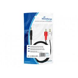 Cable rca de audio mediarange stereo jack 35mm 2 conectores longitud del c