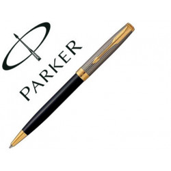Boligrafo parker sonnet plata / negro gt