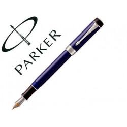Pluma parker duofold centennial negro / azul ct