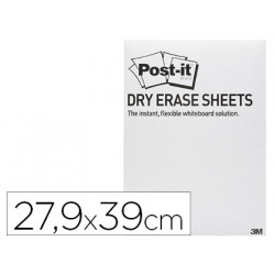 Pizarra blanca post it super sticky lamina adhesiva removible 279x39 cm pa