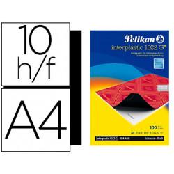 Papel carbon pelikan negro interplastic 1022 din a4 caja 10 hojas