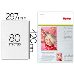 Bolsa de plastificar geha brillo din a3 80 micras pack 25 unidades