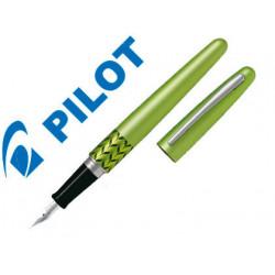 Pluma pilot urban mr retro pop verde claro con estuche y bolsa