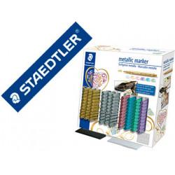 Rotulador staedtler metalico 8323 expositor sobremesa de 100 unidades color