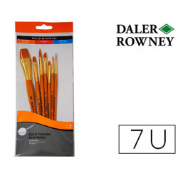 Pinceles daler rowney simply art sintentico mango corto dorado blister de 7