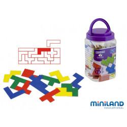 Juego didactico miniland pentominos de colores