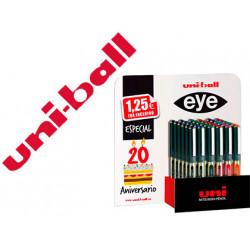 Rotulador uniball roller ub157 micro eye expositor especial 20 aniversari