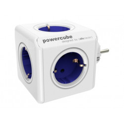 Regleta powercube original con 5 tomas azules forma de cubo