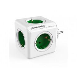 Regleta powercube original con 5 tomas verdes forma de cubo