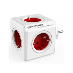 Regleta powercube original con 5 tomas rojas forma de cubo
