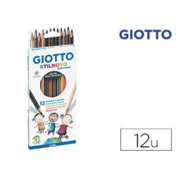 Lapices de colores giotto stilnovo skin tones caja de 12 colores