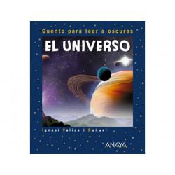 Libro anaya el universo para leer a oscuras tapa cartone 24 paginas 200x165