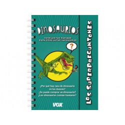 Libro vox superpreguntones dinosaurios encuadernacion doble espiral 96 pagi