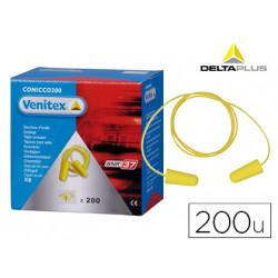 Protector auditivo delta plus conico con cordon caja 200 pares