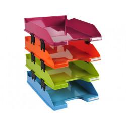 Bandeja sobremesa exacompta plastico arlequin set de 4 unidades colores sur
