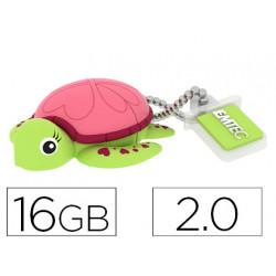 Memoria usb emtec flash 16 gb 20 tortuga