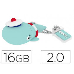 Memoria usb emtec flash 16 gb 20 ballena