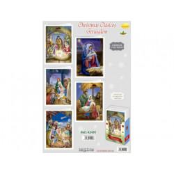 Felicitacion de navidad clasicos jerusalem texto oro