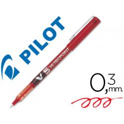 Rotulador pilot punta aguja v5 rojo 05 mm