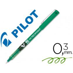 Rotulador pilot punta aguja v5 verde 05 mm