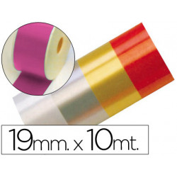 Cinta fantasia 10 mt x 19 mm fucsia