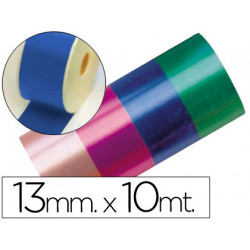 Cinta fantasia 10 mt x 13 mm azul