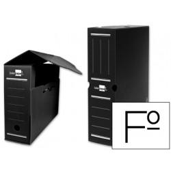 Caja archivo definitivo plastico liderpapel negro tamaño 36x26x10 cm