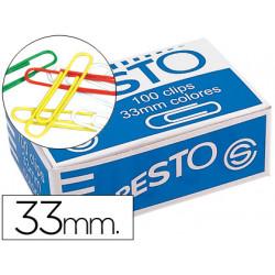Clips colores paper caja de 100