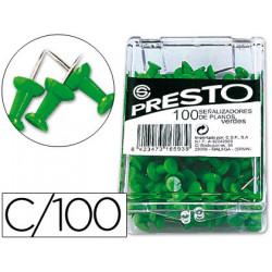 Señalizador de planos presto verde caja de 100 unidades