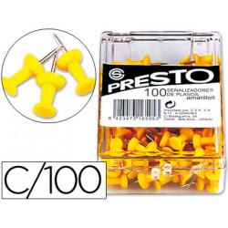 Señalizador de planos presto amarillo caja de 100 unidades